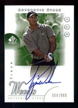 2001 Upper Deck SP Authentic Tiger Woods Autograph RC #/900