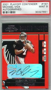 2001 Playoff Contenders Michael Vick Autograph Auto RC Rookie Card