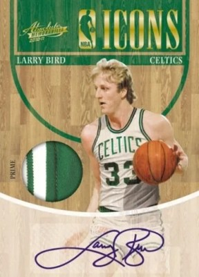 2010/11 Panini Absolute Memorabilia Icons Larry Bird Prime Jersey Autograph Card