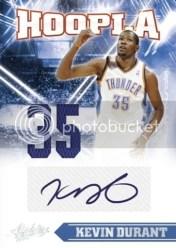 2010-11 Panini Absolute Memorabilia Hoopla Kevin Durant Autograph Jersey Card