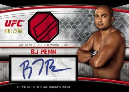 2010 Topps UFC Knockout BJ Penn Relic Autograph Card
