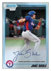 2010 Bowman Chrome Draft Jake Skole Autograph Prospect Card