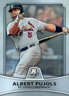 2010 Bowman Platinum Albert Pujols Base Card