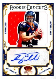 2010 Panini Crown Royale Rookie Die Cuts Tim Tebow Autograph Jersey Card