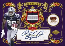 2010 Crown Royale Dez Bryant Rookie Royalty Autograph Auto