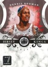 2010-11 Panini Donruss Dennis Rodman Jersey Kings Insert Card