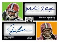 2010 Topps Magic Football Hardesty/Jim Brown Dual Auto