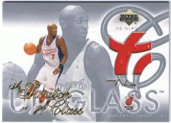 03/04 UD Touch of Class Lamar Odom Jersey SCLO
