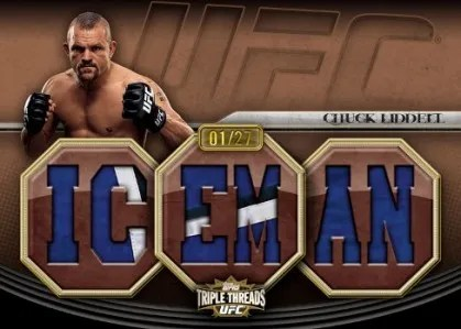 2010 Topps UFC Chuck Liddell Triple Threads Knockout Relic Jersey Card