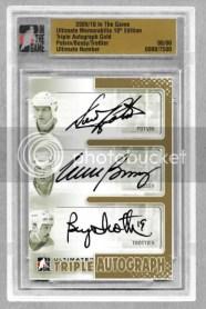 2010/11 ITG Triple Autograph Potvin/Bossy/Trottier