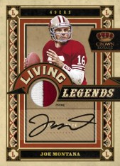 2010 Crown Royale Joe Montana Living Legends Patch Auto
