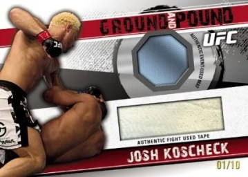 2010 Topps UFC Knockout Ground and Pound Josh Koscheck Tape Mat Relic Card