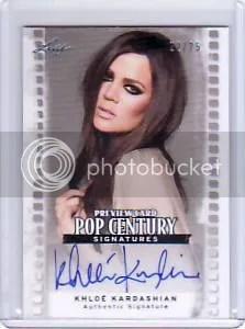 2011 Leaf Pop Century Khloe Kardashian Autograph