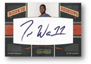 2010/11 Panini Timeless Treasures John Wall Rookie Recruits Autograph RC