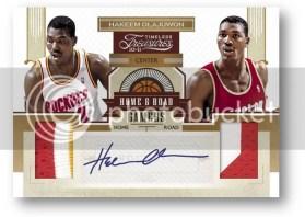 2010/11 Panini Timeless Treasures Home & Road Games Hakeem Olajuwon Dual Jersey Autograph