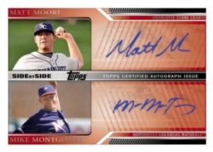 2011 Topps Pro Debut Side By Side Signature Matt Moore - Mike Montomery Autograph Card