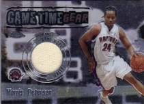 03/04 Topps Chrome Gametime Gear Morris Peterson Relic Card