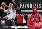 2010/11 Panini Prestige Franchise Favorites Allen Iverson Prime Jersey