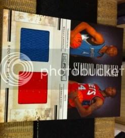 2010/11 Panini Studio Rookies Wesley Johnson Derrick Favors Dual Material Card