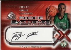 2006/07 Upper Deck Sp Game Used Rajon Rondo Autograph RC Rookie