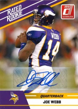 2010 Panini Donruss Rated Rookie Joe Webb Autograph Card