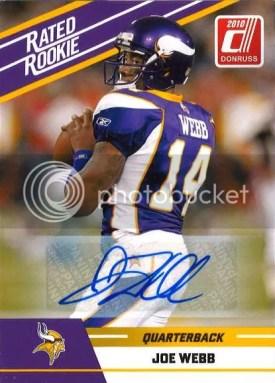 2010 Panini Donruss Rated Rookie Joe Webb Autograph Card