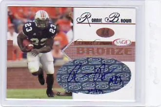 2005 Sage Autographed Ronnie Brown Rookie Auto