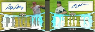 2010 TOPPS TRIPLE THREADS STEPHEN STRASBURG Josh Johnson Dual Auto RC