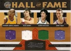 2009/10 Panini Timeless Treasures Hall of Fame Quad