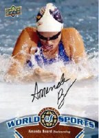 2010 World of Sports Amanda Beard Autograph