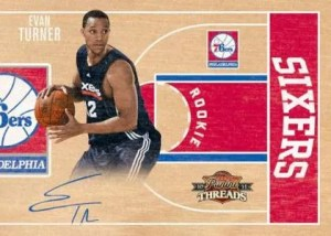 2010/11 Panini Threads Evan Turner Autograph RC Card