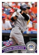 2011 Topps Opening Day Carlos Gonzalez