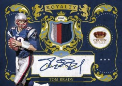 2010 Crown Royale Tom Brady Royalty Prime Jersey Auto