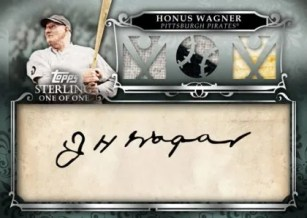 2010 Topps Sterling Honus Wagner Triple Relic Cut Autograph