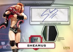 2010 Topps Platinum WWE Sheamus Autograph Relic
