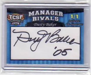 2011 Tri-City Sports Dusty Baker Manager Rivals Dual Cut Autograph