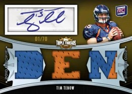 2010 Triple Threads Tim Tebow Autograph RC
