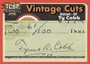 2011 Tri-City Sports Ty Cobb Diamond Cut Vintage Auto