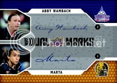 2011 Upper Deck Dual Marks WPS Abby Wambach/Marta