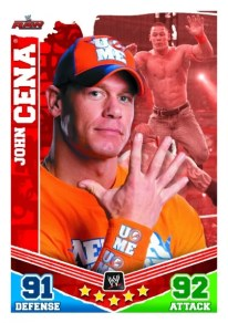 2010 Topps Attax Mayhem John Cena Raw