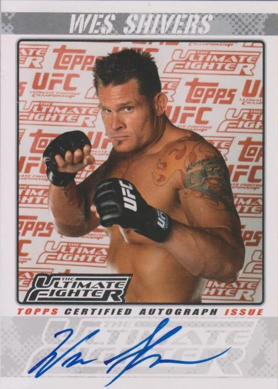 2009 Topps UFC TUF Season 10 Autograph Wes Shivers Card