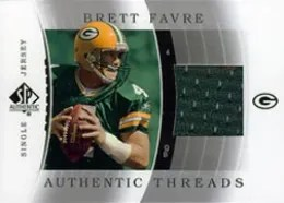 2003 Sp Athentic Thrads Single Brett Favre Card