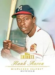 2012 Topps Tribute Hank Aaron Base Card