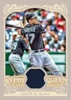 2012 Topps Gypsy Queen Mike Stanton Jersey Card