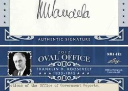2012 Leaf Oval Office Franklin Roosevelt