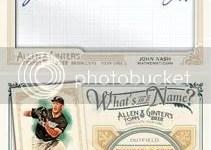 2012 Topps Allen & Ginter John Nash Cut Autograph