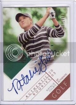 2003 Upper Deck SP Authentic Natalie Gulbis Autograph RC Rookie Card