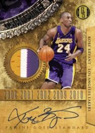 2010-11 Panini Gold Standard Gold Rings Kobe Bryant Patch Autograph Card