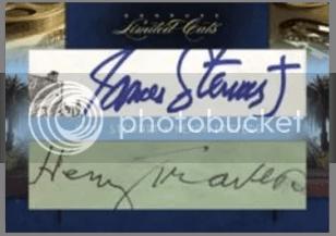 2011 Donruss Limited Cuts Dual Cut Autograph