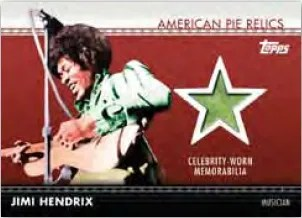 2011 Topps American Pie Jimi Hendrix Relic Card